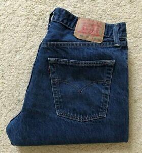 Vintage Mens Levis 522 02 straight leg blue high rise denim jeans W 34 L 31