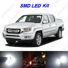 17x White LED Interior Bulbs + License Plate Light for 2006-2013 Honda Ridgeline