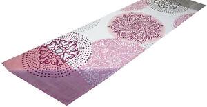 Tischdecke Tischläufer modern rosa grau Frühling Baumwolle 130 x 40 cm