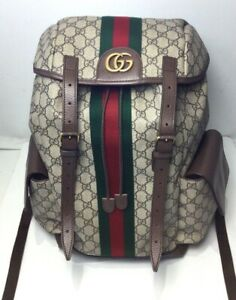 Gucci Ophidia Canvas Backpack - Brown - Medium