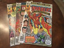 Lot of 3 Marvel The Invaders #22 23 24 comic books bronze age