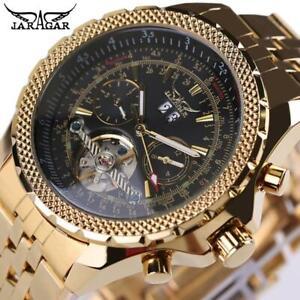 JARAGAR Brand Top Mens Wristwatches Relogio masculinos Luxury Gold Wristwatch Au