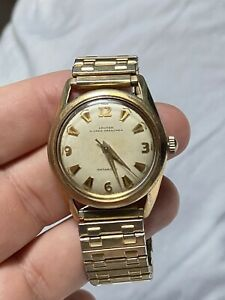 Croton Nivada Grenchen Men's Automatic Wristwatch 17 jewels Works Very Well