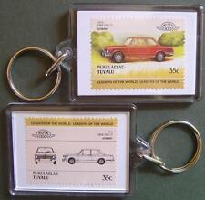 1975 BMW 2002 Tii Saloon Car Stamp Keyring (Auto 100 Automobile)