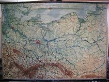 Schulwandkarte Wandkarte Karte NO- Deutschland Schlesien Preussen 205x147cm 1942