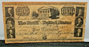 The Bank of the United States Bank Note 1840  New York