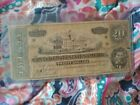 1864 Civil War Confederate Currency $20 Note Dollar Bill for sale