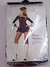 Size Large Women's Military Major Mayhem Costume Cosplay Halloween Party Sexy