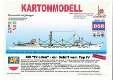 MDK-Verlag 7018 - Kartonmodell - Traditionsschiff Typ IV - MS Frieden - 1:250