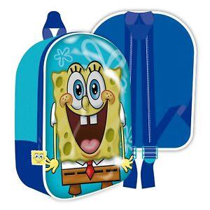 Spongebob Squarepants Kids Children 3D Backpack