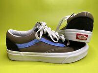 Vans Shoe OLD SKOOL Black Blue Tan Canvas Men's 5.0 Women's 6.5