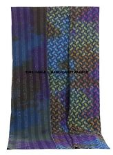 King Size Indian Tie Dye Kantha Quilt Bedding Bedspread Reversible Ethnic Throw