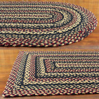 """Primitive Braided Area Rugs Country Oval Rectangle 20x30"""" up to 8x10' by IHF"""