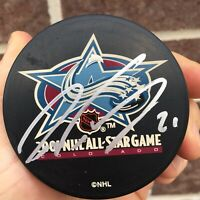 Peter Forsberg AUTOGRAPH Signed 2001 All-Star Game LOGO PUCK AUTOGRAPHED AUTO
