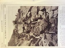 b1H ephemera 1916 picture ww1 salonika british trenches sgt uses a periscope