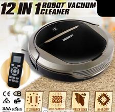 12IN1 DEEBOT Robot Vacuum Cleaner Robotic Automatic Recharge Floor Sweeper Mop