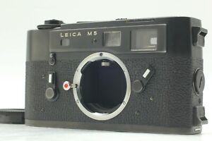 [Mint Meter Funktioniert] Leica M5 Schwarz 35mm Rangefinder Film Kamera Body Aus