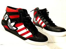 Adidas Mens Basketball Shoes Size US 13 High Top Large Logo Athletic Black Red