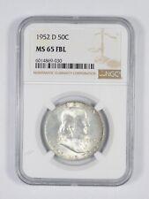 1952-D FBL MS65 Franklin Half Dollar - 90% SILVER - PCGS Graded *822