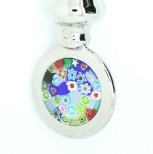 Murano Glass Bottle Opener Multi Coloured Millefiori Silver Coloured