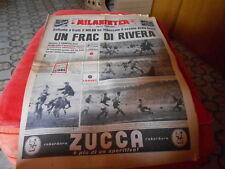 CALCIO RIVISTA MILAN INTER  NR 7  12-2-1962   iun frac di rivera