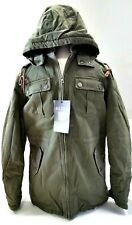 Mudo FTS 60 Co. MUDO Men's Outerwear size M Army Green Jacket (Removable Hood)