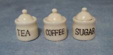 VETRO Tè Caffè & Zucchero Set Miniature Casa delle Bambole Accessorio Cucina