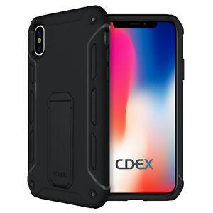 Ultra Kickstand Case iPhone X/XS 5,8 Ständer Aufstellbar Cover Schutzhülle Folie
