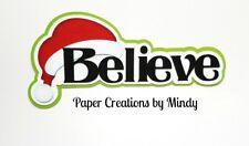 CRAFTECAFE MINDY CHRISTMAS SANTA BELIEVE premade paper piecing TITLE scrapbook