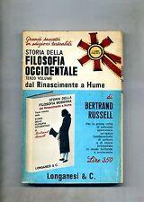 Bertrand Russel # STORIA DELLA FILOSOFIA OCCIDENTALE VOL III # Longanesi 1967