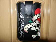 ED HARDY LKS Tatoo Leder Tasche Handy Etui Apple iPhone 4 4S 3G 2 3 G iPod Touch