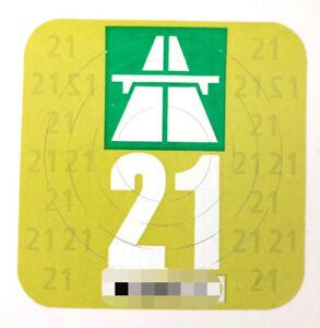 Vignette Schweiz 2021 - Schweizer Autobahnvign.