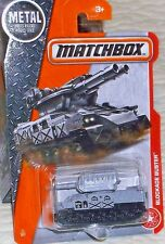 2017 Matchbox On A Mission #71-125 Gray Blockade Buster Tank Diecast 1:64 sca 4+