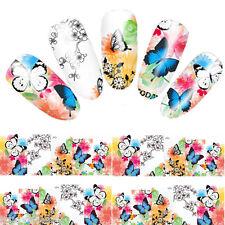 Nail Art Water Decals Stickers Neon Lace  Butterflies Butterfly Gel Polish YZW07