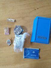 Automatic Vintage Ussr watch Vostok Amphibian Gold Kgb 31j Metal Band & Pins!