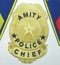 """Jaws Movie Sheriff Brody Amity Police Chief Embroidered 3.5"""" Tall Patch"""