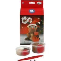Silk Clay Funny Friends DIY Set For Reindeer Making Moulding Modelling Crafts