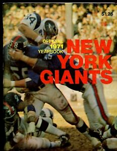 1971 NFL Football New York Giants Yearbook EXMT