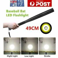 Baseball Bat LED Flashlight Baton Self-Protect Torch Emergency Security Tactical