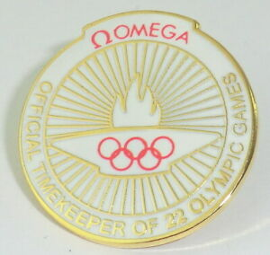 OMEGA PIN - Anstecker - Official Timekeeper of 22 Olympic Games Rarität