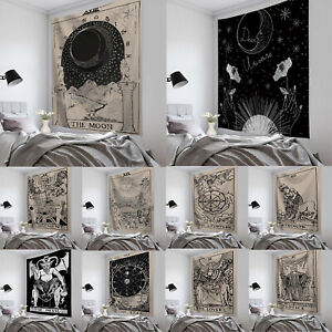 HOT Wall Hanging Tarot Card Magical Moon&Sun Bedspread Large Tapestry Decoration