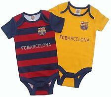 FC Barcelona 2016 Bebés Traje Cochecito Manga Corta Bebé Chaleco Crecimiento X 2