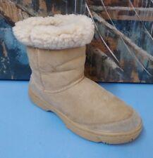 UGG Ultimate Short 5275 Tan Suede Sheepskin Boots Women's Size 8