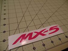 "4 pack - Mazda Miata MX-5 Gloss Hot Pink Decal Sticker 5""1/2 x 3/4"""