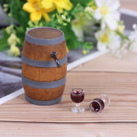1:12 Doll house mini furniture accessory wine barrel model with wine  UtJ Jf