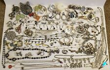 2.3lbs Silver Tone Jewelry Lot 95 Items Gorgeous! Vintage to Modern