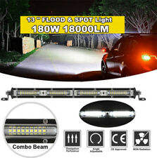 13'' 180W LED Work Light Bar Offroad Boat Truck Driving Lamp Spot Flood Combo