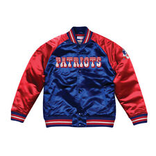 NWT New England Patriots Mitchell & Ness NFL Throwback Satin Jacket 2XL XXL