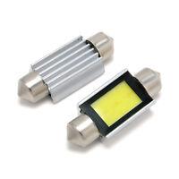 2X White Xenon Dome Lamp 36mm Car COB LED License Plate Light 6418 C5W 4W Bulbs