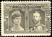 Mint NH Canada F Scott #96 1/2c 1908 Quebec Tercentenary Issue Stamp